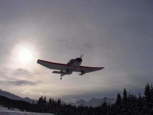 FFA Altiport Training Courchevel 6th to 13th January 2001.-Taking off from Mirabel jpg