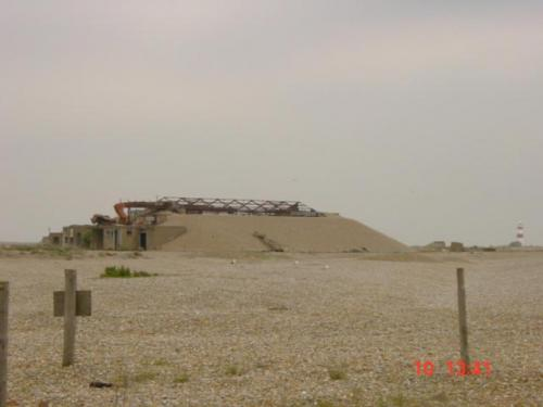 Orford Ness June 24th 2004-Laboratory with lightweight roof to allow any explosion upwards jpg