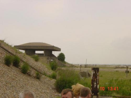 Orford Ness June 24th 2004-Later laboratory pagoda with roof designed to collapse on any explosion jpg